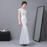 2017 New Summer Dress Women Sexy Diamond Sequins Off Shoulder Maxi Dress Lady Slim Fit Silver Party Dresses Robe Femme