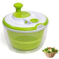 Multifunction Jumbo 4.5 Quart Salad Spinner Manual Good Grips Vegetables Dryer Dry Off Drain Quick Filter Lettuce Spinner Green
