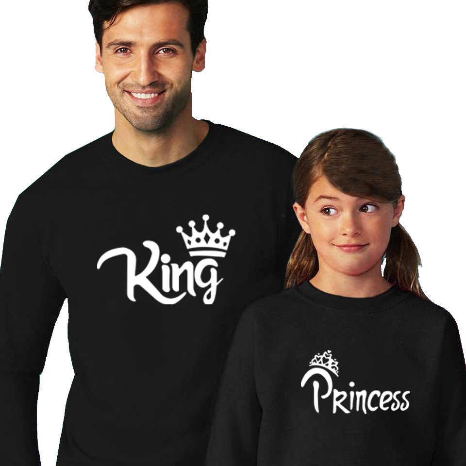 24ad5f269d4cc Family Matching Clothes Father Mother Baby Family Sweaters Outfits King  Queen Prince Pullover Family Look Christmas Outfit