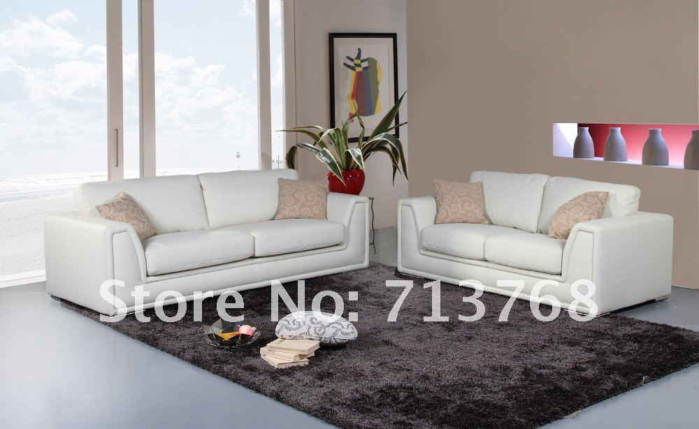 modern furniture living room sofa with genuine leather mcno9034