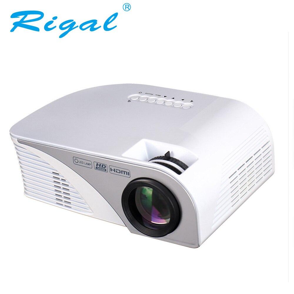 Mini Portable Lcd Multimedia Led Projector Full Hd 1080p: Newest Mini Projector Rigal RD805B 1200 Lumens Multimedia