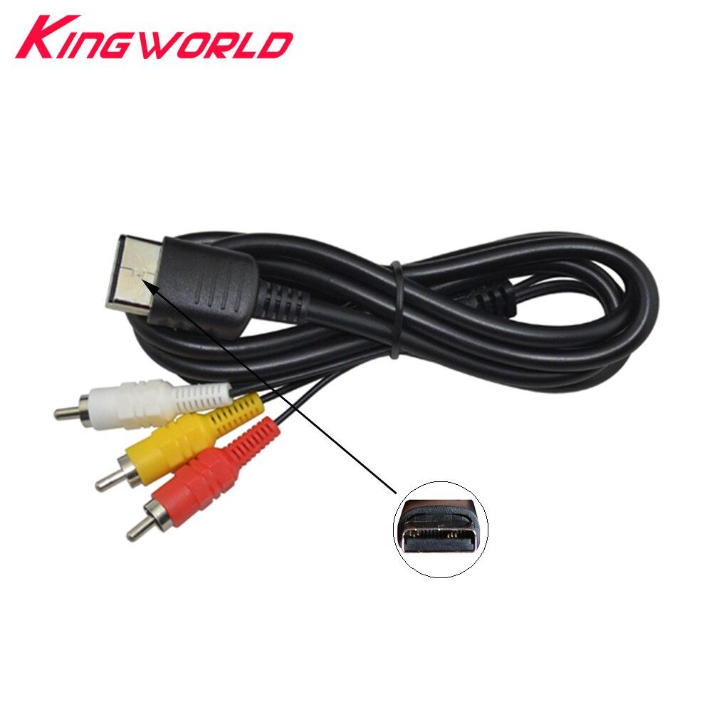 La nouvelle épaisseur ronde fil Composite AV Audio Vidéo TV Adaptateur Câble pour SEGA Dreamcast RCA Cordon pour DC Console