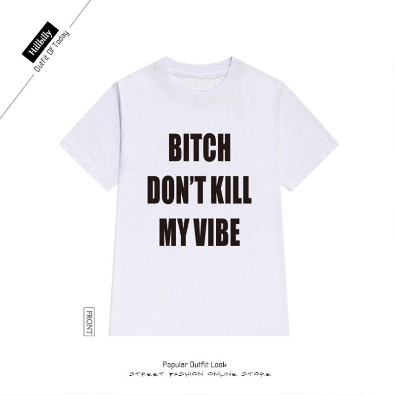 Hinterwäldler T-shirts Frauen Brief Druck Hündin Töte nicht meine - Damenbekleidung - Foto 5