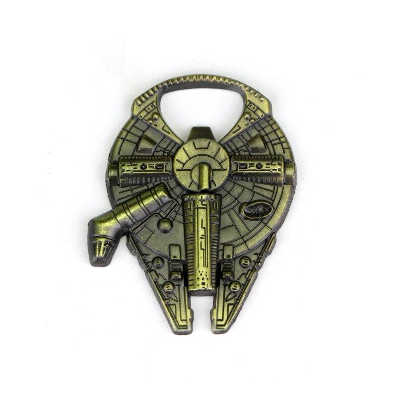 US $1 0 |Movie Star Wars Airship Keychain Beer Bottle Opener Spacecraft  Millennium Falcon Spaceship Barkey Keyring Chain Men jewelry-in Key Chains