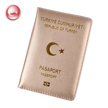 Klsyanyo for Turkey Passport Holder PU Leather Covers for Turks Men Women Passports Organizer for Travelling(China)