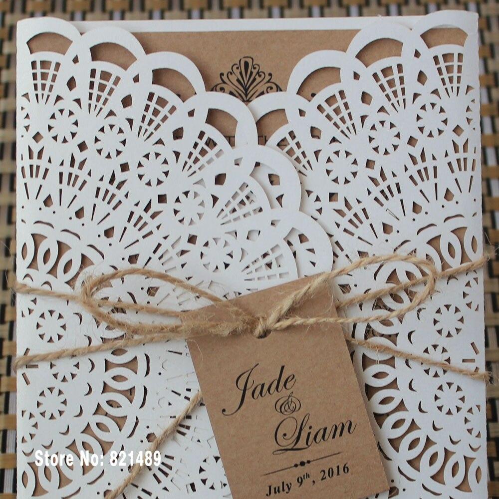 Rustikalni pozivnice za vjenčanje, svadbene Showe pozivnice, Custom - Za blagdane i zabave - Foto 4
