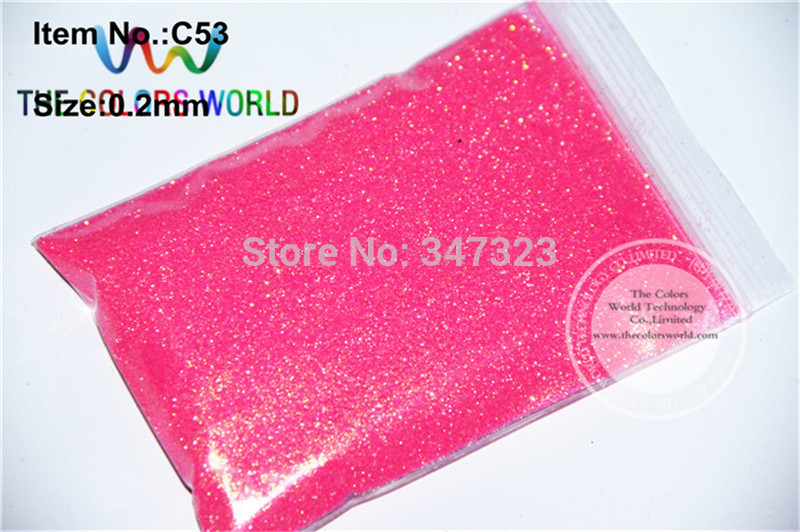 Wholesale 0.2mm 008 Size Shinning Neon Rainbown Pink Color  Glitter Powder