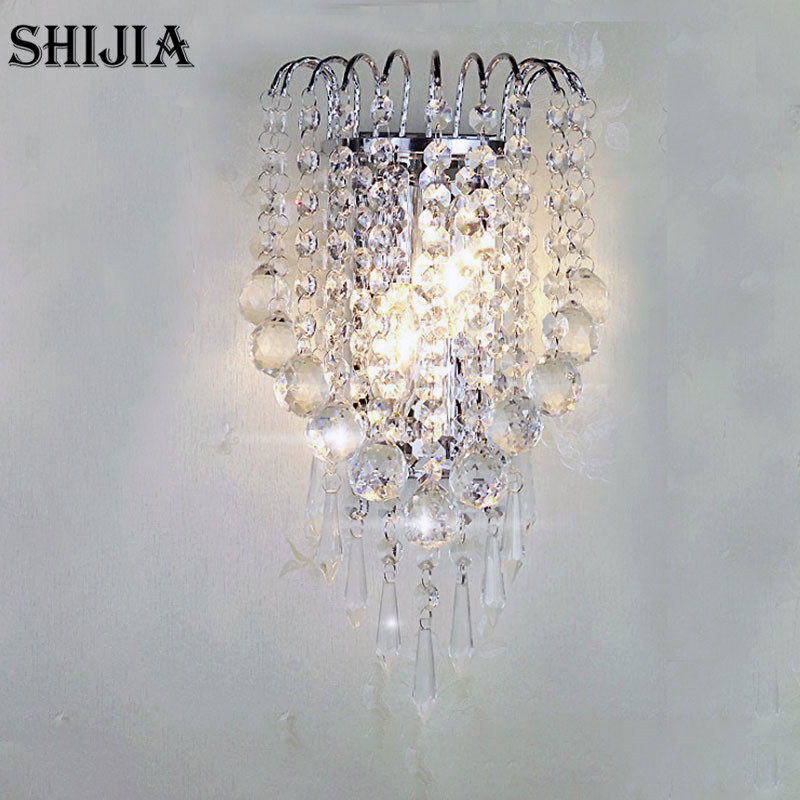 Modern Crystal Drop LED Wall Lamps for Living room Aisle Balcony Bedroom Bedside Lamp Study Bar Wall Sconces wall light 12w led wall lamp bedroom bedside living room hallway stairwell balcony aisle balcony lighting ac85 265v hz64