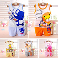 New Brand Fashion Children Baby Boys Clothes Kid's T-shirts Set 2016 Summer Undershirt Clothing Cotton Short T-Shirt +Pants Sets