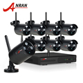 ANRAN Plug And Play 8CH CCTV System Wireless NVR Kit P2P 720P HD 3 Array IR Outdoor WIFI Security IP Camera Surveillance Kit