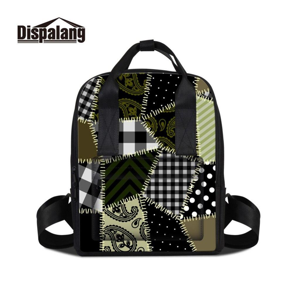 Dispalang Women School Backpack For Teenagers Sewn Striped Print Girls Female Pad Backpacks Ladies Casual Travel
