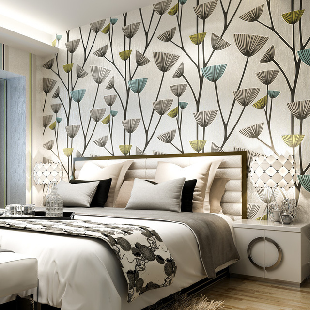 A B Sets High Quality Wallpaper Abstract Stripe Wall Paper Plant For Walls