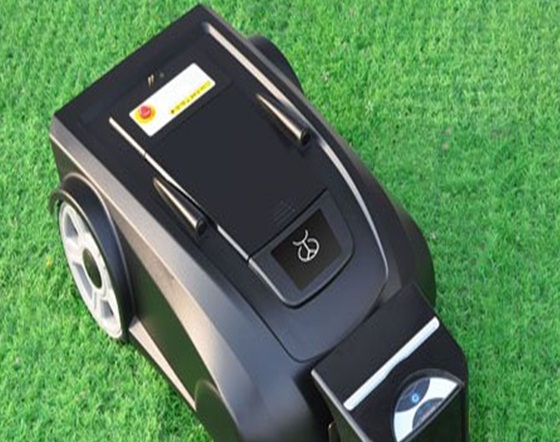 Дистанционное роботов газонокосилка LF008 новые Funciton с компасом + свинцово-кислотная батарея + пульт Управление + 100 м провода и 100 шт. колышки