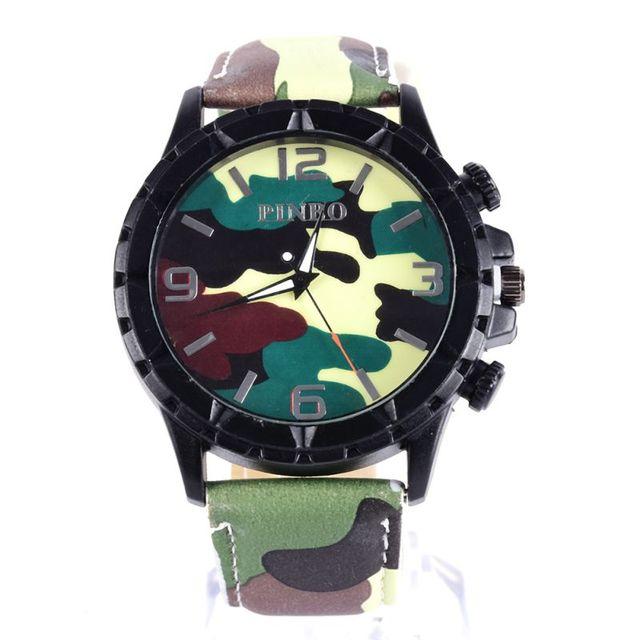 4ef17d48f597 Новый супер Для женщин Для мужчин камуфляж круглое лицо часы-браслет  силиконовой лентой циферблат наручные