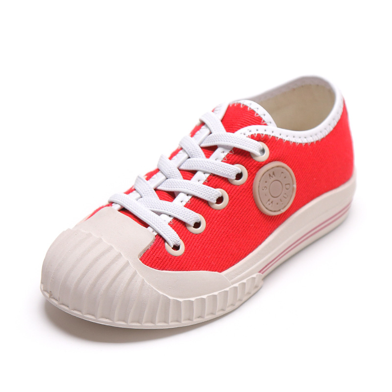 Children Boys Girls Canvas Casual Flat Shoes 2019 New Fashion Lace-up Shoes Kids Toddler Antiskid Ventilation Shoes Size 26-37Children Boys Girls Canvas Casual Flat Shoes 2019 New Fashion Lace-up Shoes Kids Toddler Antiskid Ventilation Shoes Size 26-37