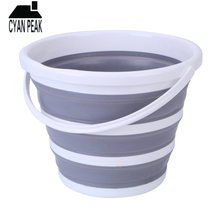 10 Round Bucket Folding Portable Fishing Water Bucket Collapsible Bucket Spave Saver Car Wash Garden Home Supplies Fold Barrel