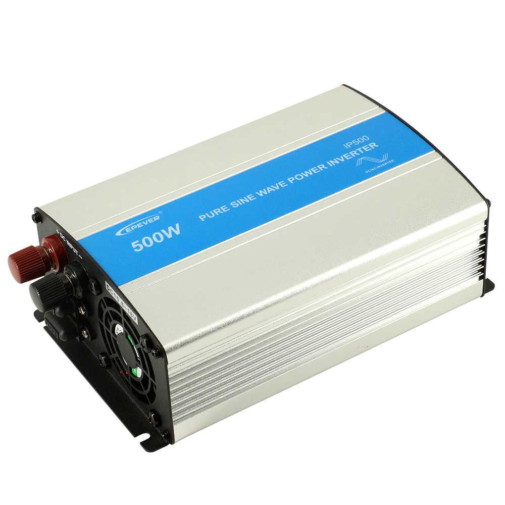 EPever IPower 500W 12V 24V DC พลังงานแสงอาทิตย์แผงปิด TIE อินเวอร์เตอร์ 110V 220V AC PURE Sine WAVE อินเวอร์เตอร์พลังงานแสงอาทิตย์พร้อมพัดลม Cool