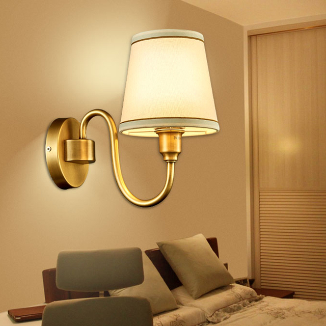 American Stype Led Wall Lamp Simple Restaurant Bedroom Study Aisle Light Indoor Sourcee27