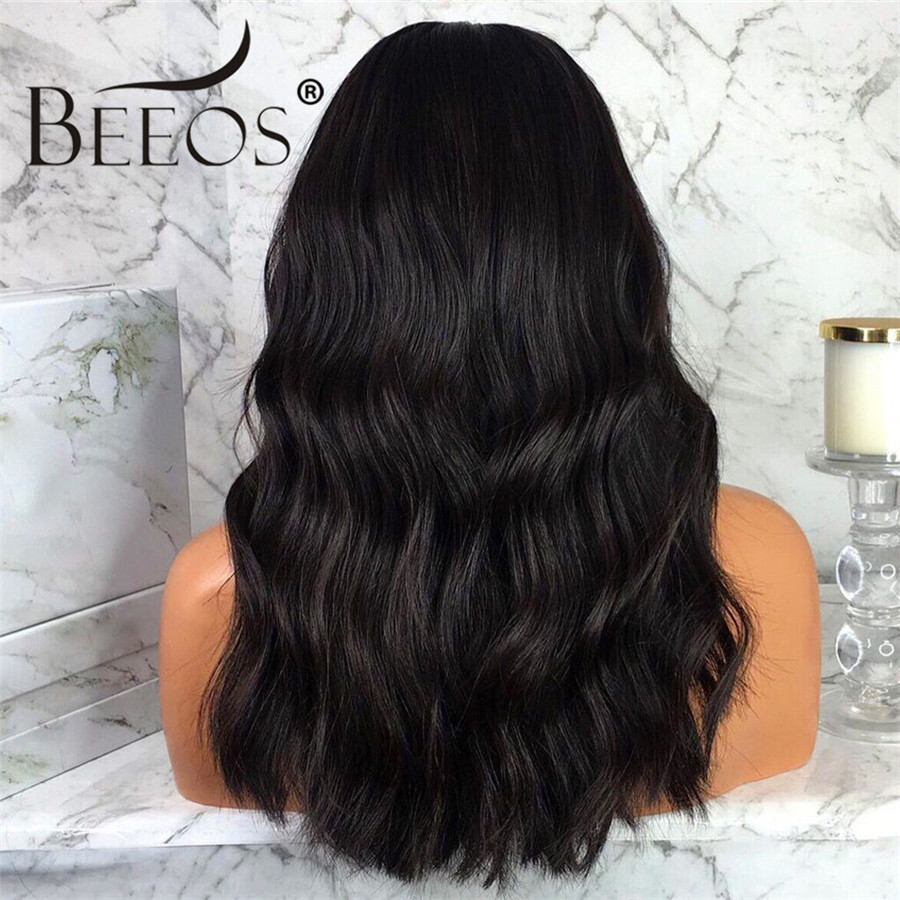 Beeos 250 Density Glueless Full Lace Human Hair Wigs for Women Middle Part Long Body Wave Wigs Brazilian Remy Hair Pre Plucked
