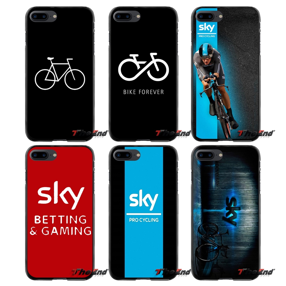 Accessories Phone Cases Covers fashion Sky Team Cycling For Apple iPhone 4 4S 5 5S 5C SE 6 6S 7 8 Plus X iPod Touch 4 5 6