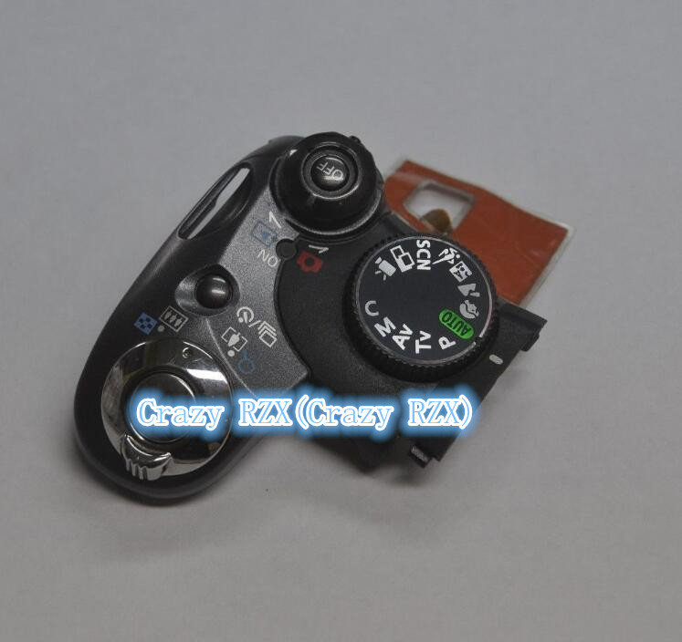 Pièces de Rechange Pour Canon POUR PowerShot S5 EST Top Mode De Couverture Cadran Interrupteur Déclencheur