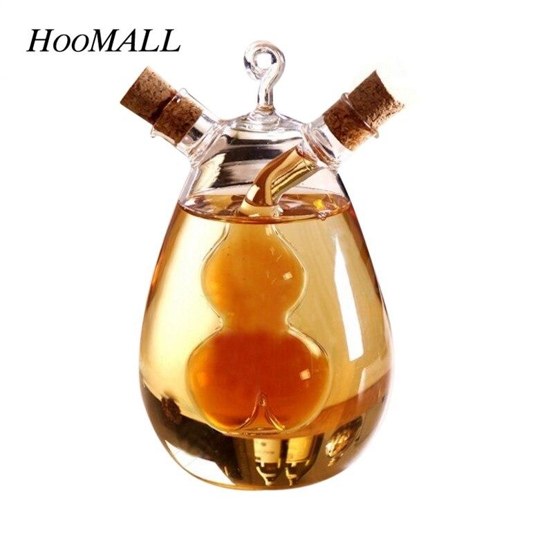 Hoomall Vasi Creativo A Duplice Uso di Perdita di Olio Salsa di Aceto Pentola Bottiglia di Condimento Bottiglie Di Vetro Resistente Al Calore Sigillato Caster