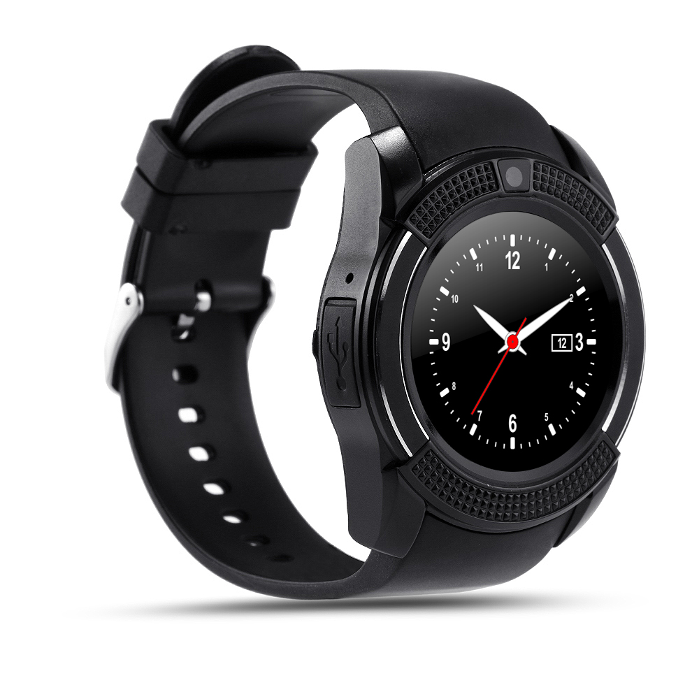 0476d6f07 Original V8 Smart Watch with SIM TF Card Slot Round IPS Bluetooth Camera  Smartwatch for Apple IOS and Android phone PK gt08 dz09-in Smart Watches  from ...