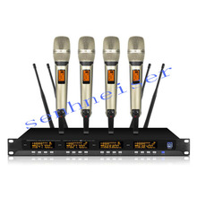 SP4 - SKM9000 19 Rack Mountable UHF Wireless Microphones System  home Karaoke handheld microphone high end uhf 8x50 channel goose neck desk wireless conference microphones system for meeting room