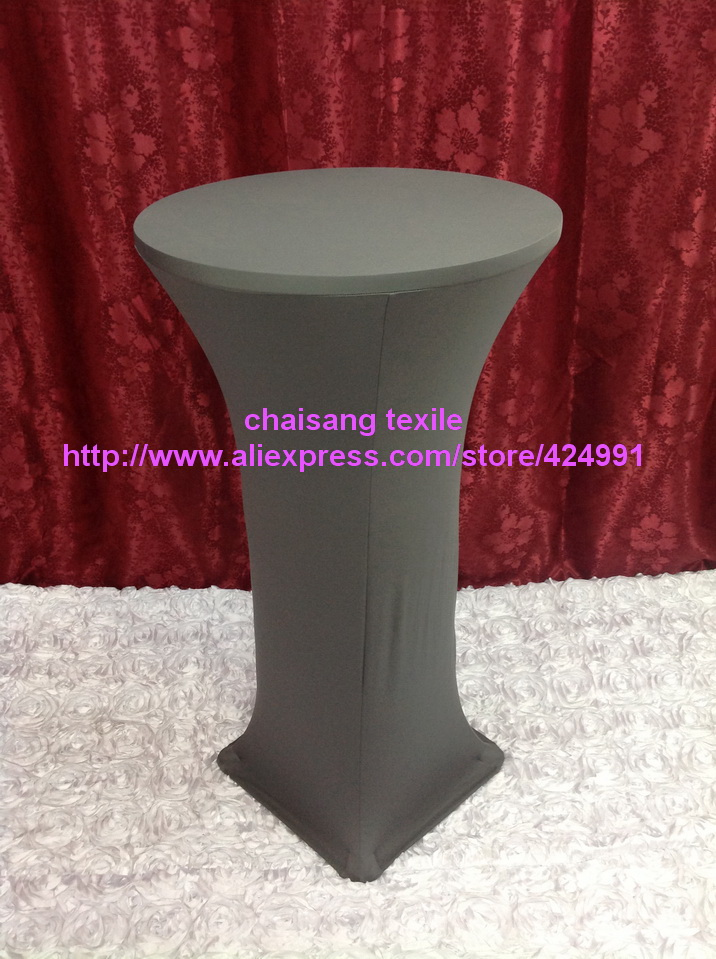 12pcs Extra Larger #34 Dark Grey Lycra dry bar cover Cocktail table cover&cloth for wedding event &party decoration