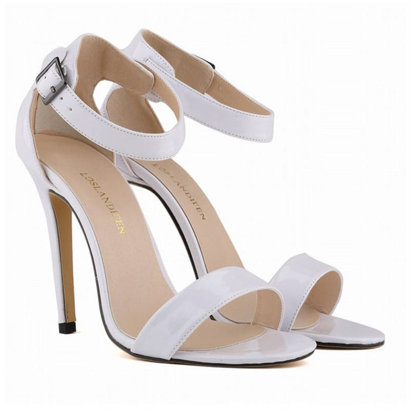 Summer Patent Leather Women Sandals Fashion Sexy High Heels Shoes Woman Pumps Ladies Party Shoes 42 Big Size big size 32 43 fashion party shoes woman sexy high heels platform summer pumps ankle strap sandals women shoes