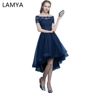 101e01ec5 Lamya Elegant Evening Party Dresses Short Long Gown