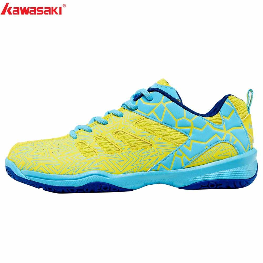 Kawasaki Badminton Court Shoes Professional Men Women Sports Shoes Brand Sneakers Anti-torsion Anti-Slippery Comfortable K-075