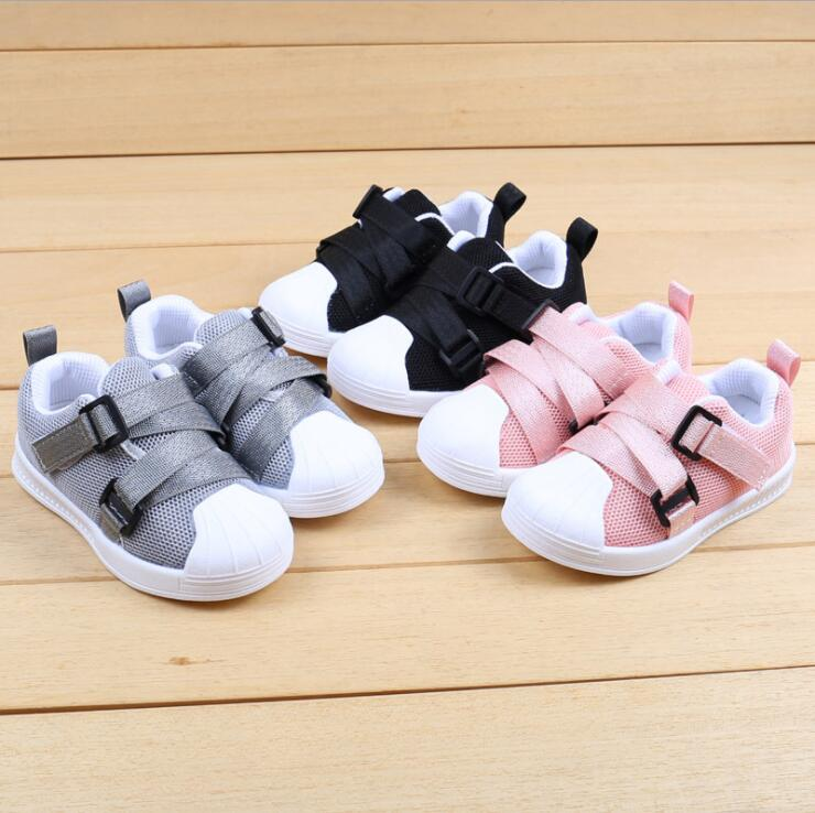 Baby Boys Girls Sport Shoes 2018 Autumn Soft Breathable Leisure Kids Running Sneaker Children Walking Tennis Shoes