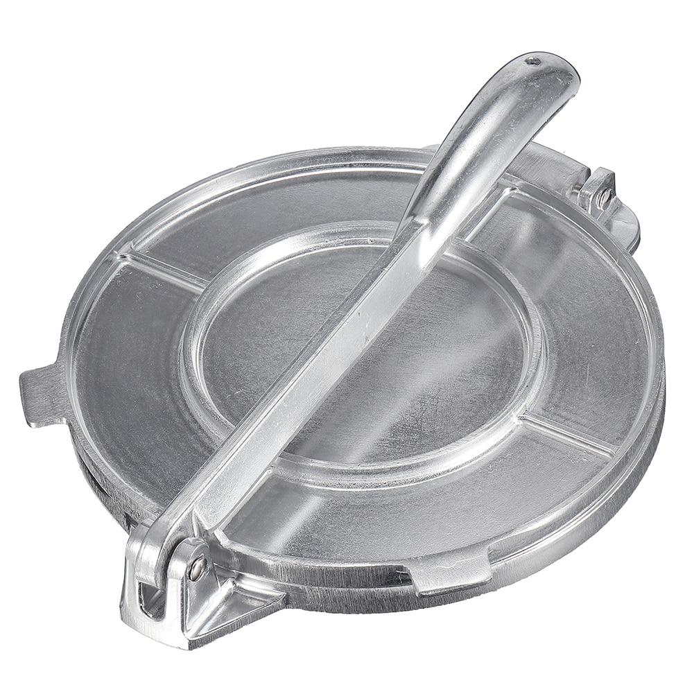 Foldable Tortilla Maker Press Heavy Duty Aluminium Meat Press Gadgets Bakeware Tools Pie Tools Silver Kitchen Accessories