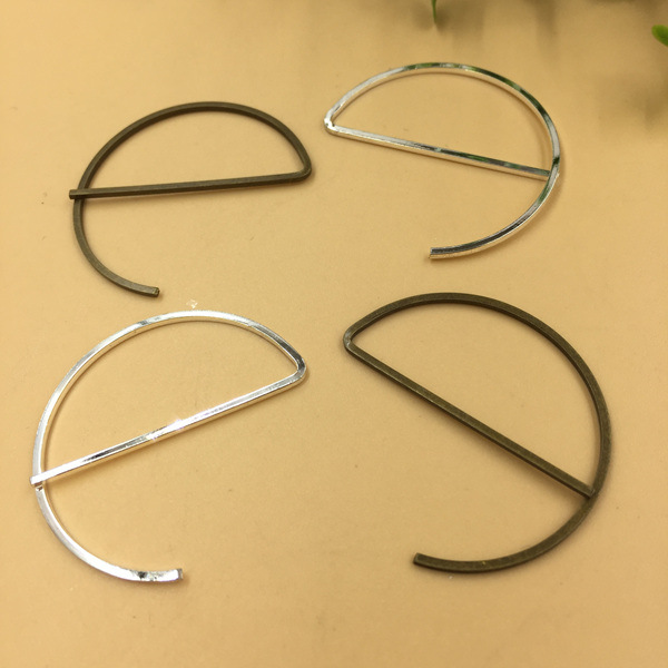 5 pcs silver coloured guitar charms metal 32mm