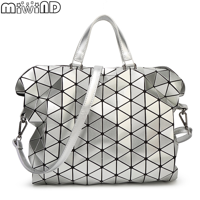 New Brand Design Women BAOBAO Bag Geometry Package Sequins Saser Plain Folding L
