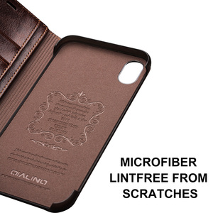 Image 5 - QIALINO Luxus Ultradünne Fall für iPhone X/Xs Echtem Leder Mode Flip Tasche Abdeckung für iPhone Xs Max Karte slot für 6,5 zoll