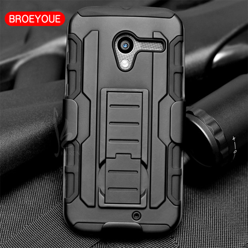 BROEYOUE Case For Motorola Moto G G2 G3 X Style X2 X3 Play XT890 XT910 Nexus 6 E XT1080 Armor Stand Hard Hybrid Cases Back Cover