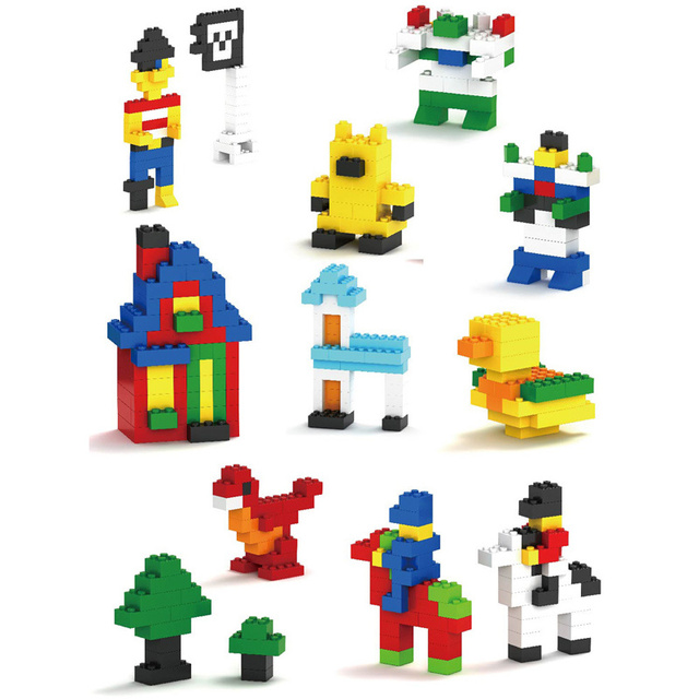 Kid's Lego Style Building Blocks 250-1000 pcs Set