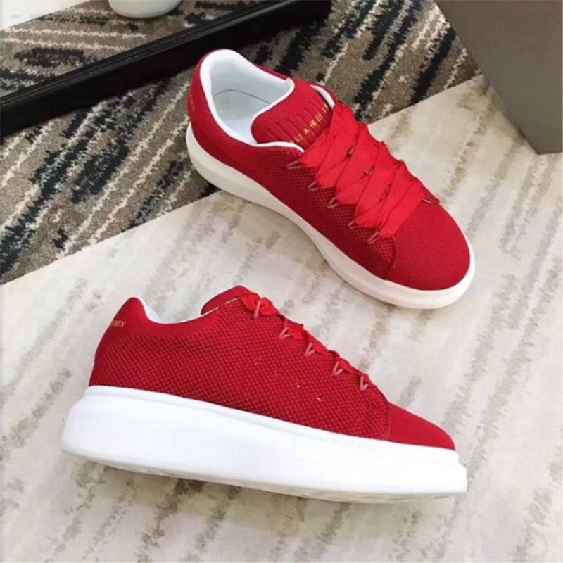 Arrivée Marque Tricot red Femelle Femmes Sneakers En Armure Dame Chaussures De Nouvelle Luxe Mode Cuir Fil Courte Stretch Designer Black tQsCrdhx