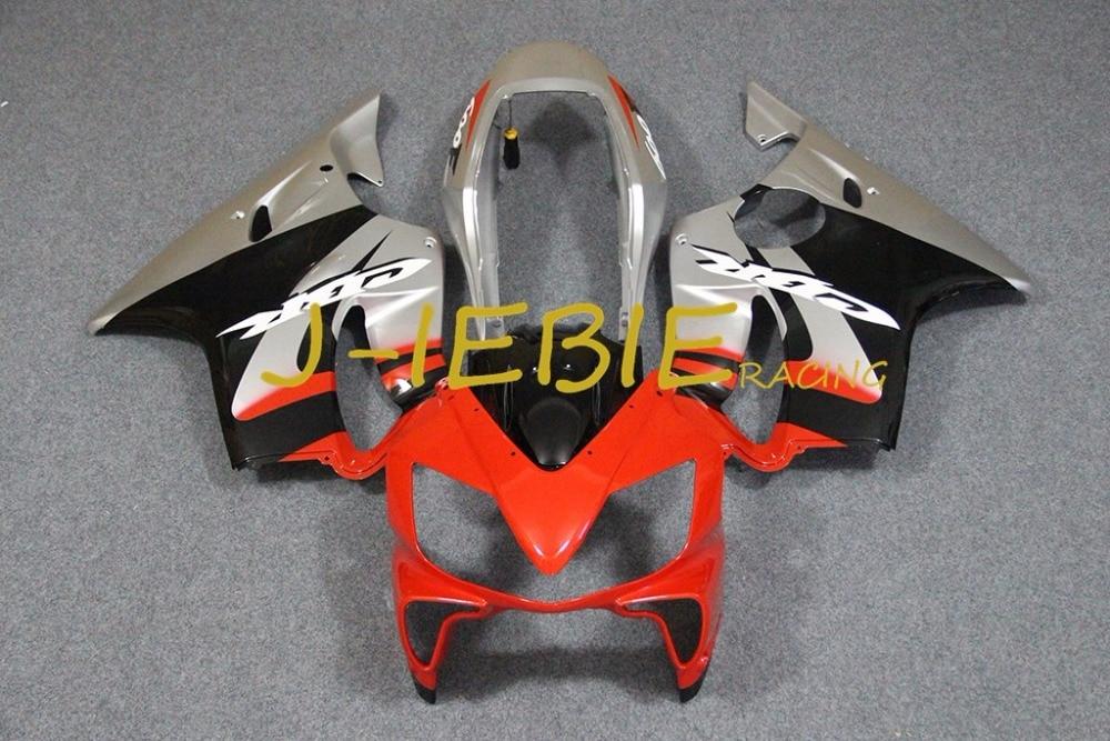 Red silver black Injection Fairing Body Work Frame Kit for HONDA CBR600 CBR 600 CBR600F F4I 2004 2005 2006 2007
