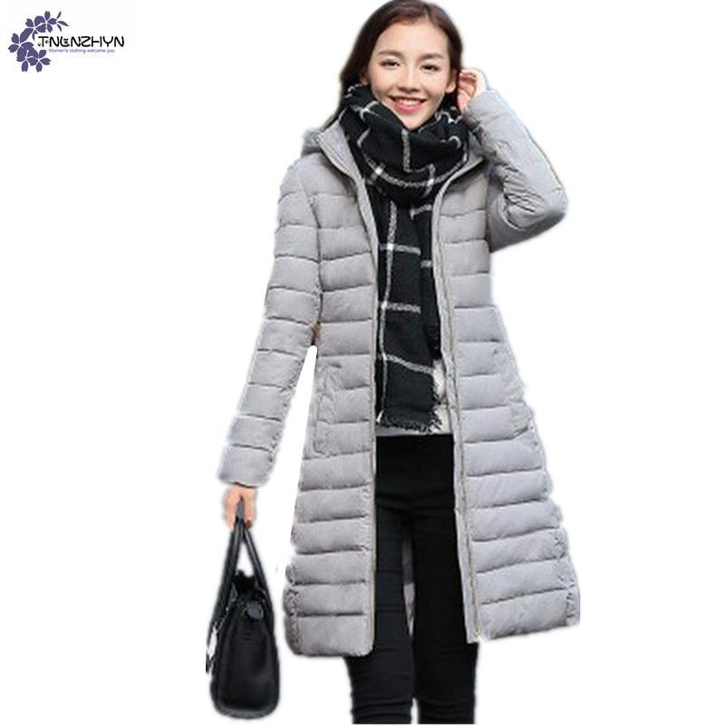 TNLNZHYN Winter women Coat fashion leisure Quality Plus Size Defined Waist Thicken Cotton padded female Hooded