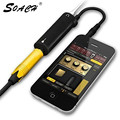 SOACH Guitar link cable adaptador AMP audio interfaz convertidor guitarra pedal efectos sintonizador enlace línea guitarra Accesorios
