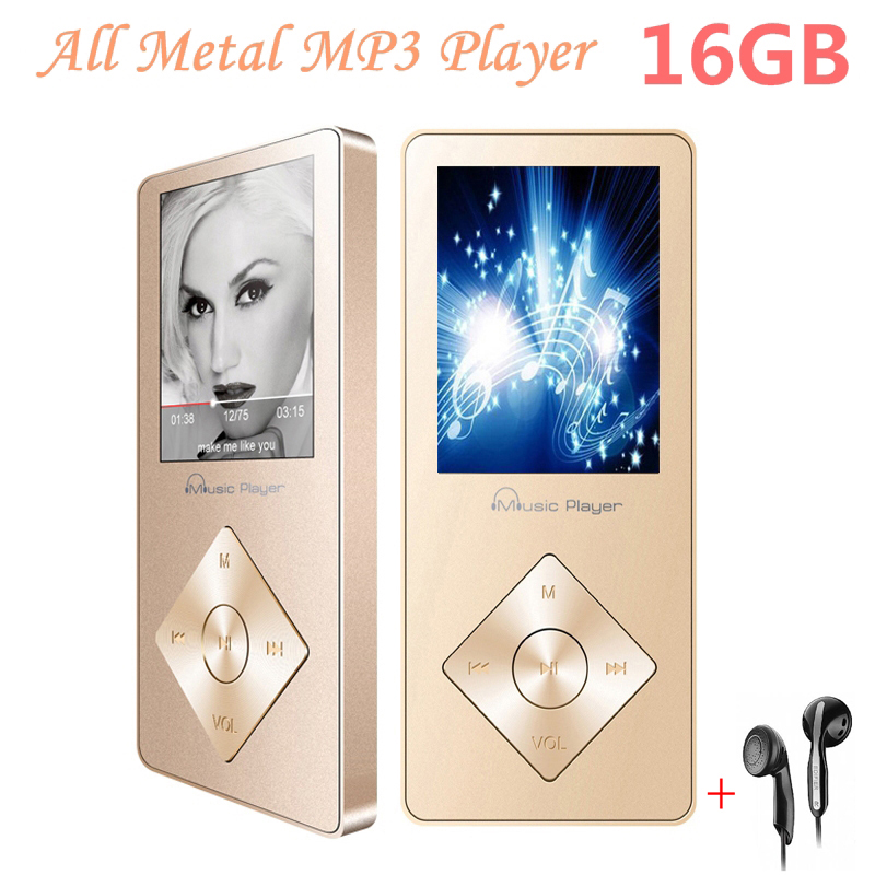 Aluminum Alloy Touch screen 16GB MP3 Player with Built in Speaker HIFI player mp 3 Walkman