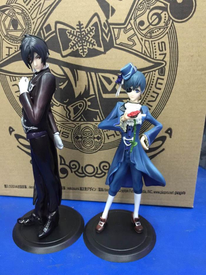 цена на Anime Black Butler Ciel Sebastian PVC Action Figures Collectible Toys 2pcs/set BBFG007