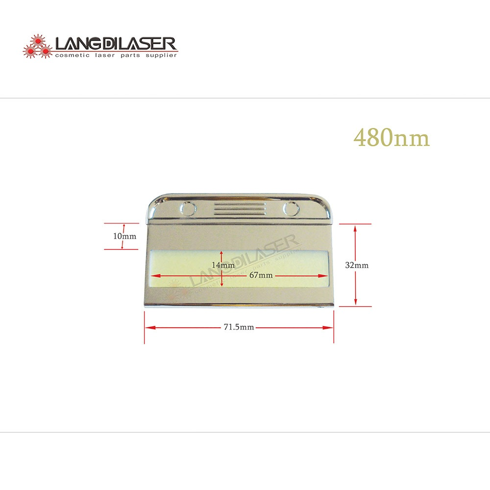 480nm 560nm 640nm 690nm 750nm 1200nm IPL head filters 5 piece order