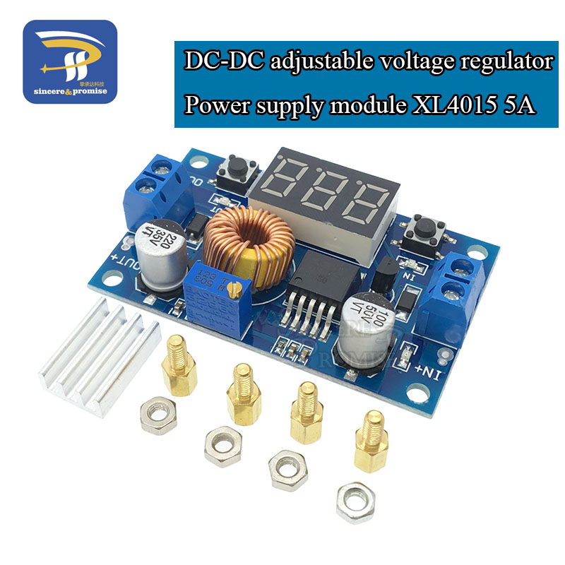 5A DC-DC adjustable step-down module XL4015 a voltmeter 4~38V