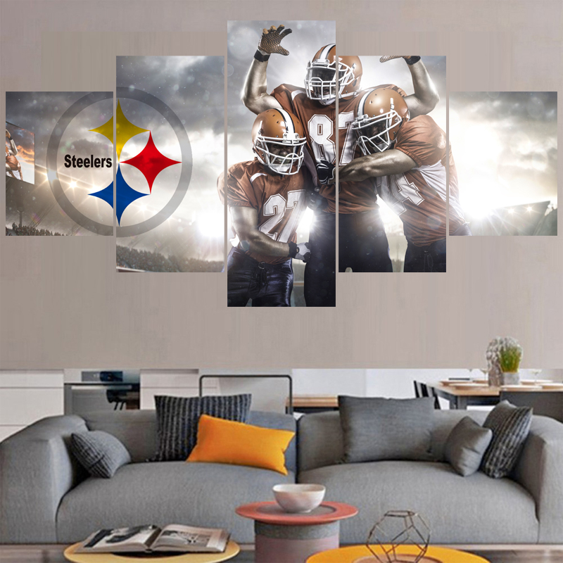 Home Decor Pittsburgh: Football Logo Paintings Pittsburgh Steelers Modern Home