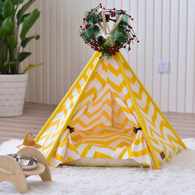 HOT Portable Folding Pet tent Dog House Cage Dog Cat Tent Playpen Puppy Kennel Easy Operation Pet Dog House Supplies LD008