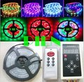 WS2811 Magic LED Strip dream color RGB 6803 IC 5050 digital tiras 5M waterproof 133 Program +RF Controller CE&ROHS by DHL 20 set